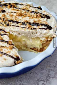 Banana Cream Pie with Nutter Butter Crust.