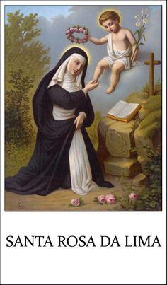 SANTINO HOLY CARD SANTA ROSA DA LIMA n 1