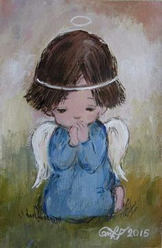Adorable Petite Fille, Drawing Journal, Surrealism Painting, Angel Pictures, Illustration, Christmas Paintings, Angel Art, Sacred Art, Yule