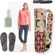 """Pink Lotus Yoga"" by sassysaks http://www.sassysaks.com/products/yoga/lotus-ivory.php"