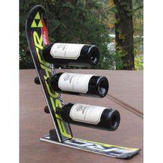 Ski Chair Snow 3 Bottle Tabletop Wine Rack Finish: Black Fisher