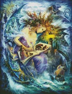 Fairy Book [STRELKINA127] - $19.00 : Heaven And Earth Designs, cross stitch, cross stitch patterns, counted cross stitch, christmas stockings, counted cross stitch chart, counted cross stitch designs, cross stitching, patterns, cross stitch art, cross stitch books, how to cross stitch, cross stitch needlework, cross stitch websites, cross stitch crafts