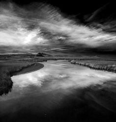 Little bear river 2013 reflections 3 bw red filter