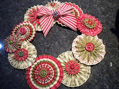 My Groovy Stampin' Up Blog: Stampin' Up! paper rosette wreath