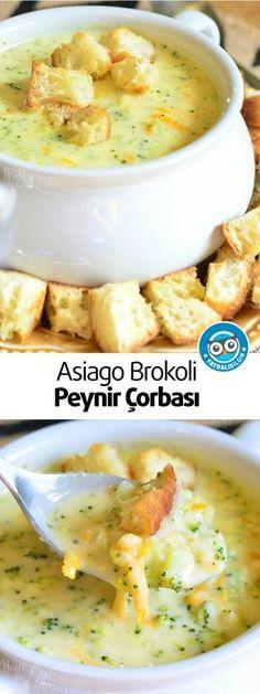 Klasik bir brokoli peynir çorbasının diğer bir varyasyonu. Bu rahatlatıcı ev yapımı çorba iki lezzetli peynir keskin beyaz çedar peyniri ve Asiago peyniri