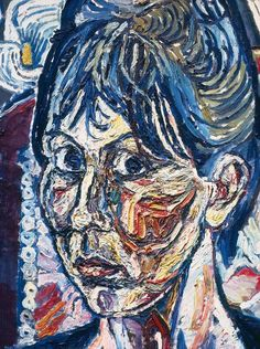John Bratby, Janet and Lilies, 1961 One of the so-called 'kitchen sink' painters from London Portraits, Portrait Art, John Bratby, Alec Guinness, Royal Academy Of Arts, A Level Art, Art Station, Art Database, Art Uk