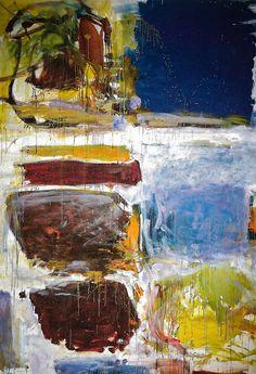 Joan Mitchell - Blue Territory, 1972 at Albright-Knox Art Gallery Buffalo NY