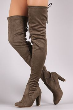 These edgy boots feature a soft vegan suede shaft with an adjustable drawstring ties closure and round toe silhouette. Pull on construction with a partial side zipper closure for easy on/off. Finished