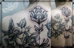 linework black & grey tattoo
