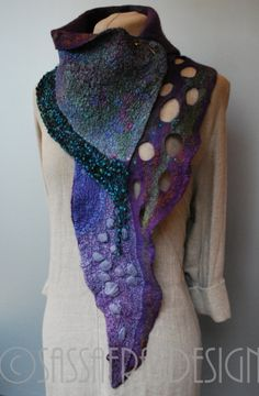 Hey, I found this really awesome Etsy listing at https://www.etsy.com/listing/218588250/gorgeous-hand-felted-scarf-with-stunning
