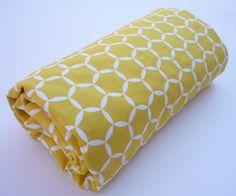Yellow Geometric Stroller Blanket by Greenerbeginnings on Etsy, $34.00