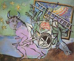 Pablo Picasso. Minotaure tirant une charette. 1936 year