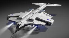 ArtStation - NASA Assault Shuttle, Paul Chadeisson