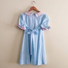 Trovato su Etsy: Vintage Plaid pastello collare abito Babydoll / di AllyHootVintage