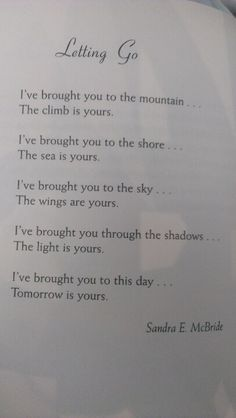 Poem from parent to child