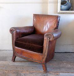 Antique Leather Armchair - Antiques Atlas