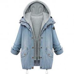b299637e83 Džínová bunda s kapucí - 6 velikostí Denim Jeans