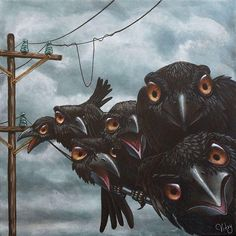 68 Ideas for dark art woman ravens Crow Art, Raven Art, Bird Art, Art And Illustration, Crows Ravens, Mundo Animal, Beautiful Birds, Wicca, Female Art