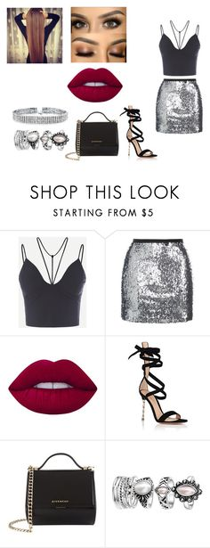 """outfit #8"" by jayda-bug ❤ liked on Polyvore featuring Topshop, Lime Crime, Gianvito Rossi, Givenchy and Bling Jewelry"