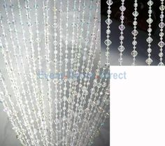 6ft Crystal Iridescent Mini Diamond Beaded Curtain - Event Decor Direct - North America's Premier