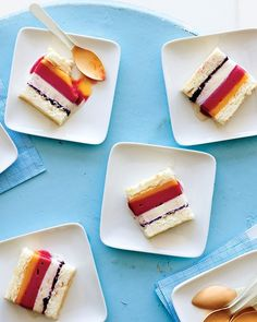 Angel food sheet cake (not pictured). just the recipe to make a angel food sheet cake. Dessert Party, Party Desserts, Frozen Desserts, Just Desserts, Summer Desserts, Recettes Martha Stewart, Martha Stewart Recipes, Angel Cake, Gastronomia