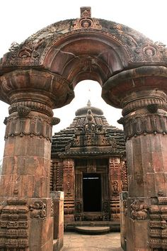 Orissa's symbol    The stone gateway at 9th century Mukteshwar and Sidheswar temples India is intimately associated with Orissa temple art