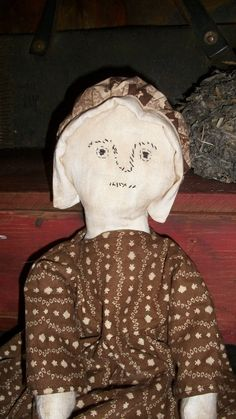 Cora Idella a Very Primitive Doll by countrypresence on Etsy
