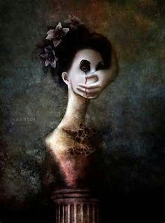 Framed Print - Weird Human Figure with Hand Over Face (Picture Poster Gothic Art Dark Fantasy, Fantasy Art, Street Art, Dark Artwork, Art Sculpture, Macabre Art, Dark And Twisted, Creepy Art, Creepy Faces