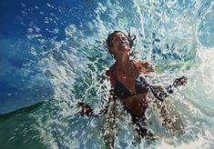 "Saatchi Art Artist Antoine Renault; Painting, """"White Tigress"""" #art"