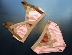 pink/nude bikini.