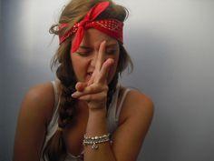 bandana with the braid
