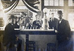 Soda fountain at Todd's Drugstore, ca. 1910 Two customers stand at the soda… Old Photos, Vintage Photos, Spice Trade, The Warlocks, Old Gas Stations, Our Town, Soda Fountain, Ginger Beer, Reference Images
