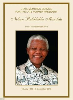 As world leaders begin to arrive in South Africa to attend the memorial service for Nelson Mandela, final preparations are underway for the ceremony that will honour the anti-apartheid hero and former president. First Black President, Former President, Nelson Mandela Foundation, Celebrities Who Died, Honor Guard, Black Presidents, Order Of Service, Apartheid, Nobel Peace Prize