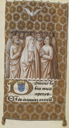 """The annunciation. Manuscript illuminator Jean Bourdichon and his atelier, ca. 1475-1500, """"Heures de Charles VIII"""", France. https://hemmahoshilde.wordpress.com/2015/09/21/charles-viii-died-childless-after-7-years-of-bad-luck/ <--- You're welcome to read more about Charles VIII on my blog :)."""