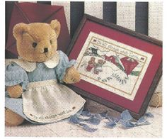DIGITAL PATTERN  Love Bears Embroidery Needlepoint Cross Stitch