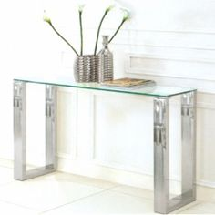glass console table - Google Search