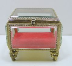 Antique French Empire Dore Jewelry Box Casket Jewelry Boxes