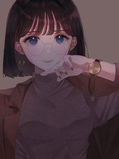 Anime Chibi, Manga Anime, Manga Kawaii, Gato Anime, Kawaii Anime Girl, Anime Girl Short Hair, Cool Anime Girl, Pretty Anime Girl, Beautiful Anime Girl