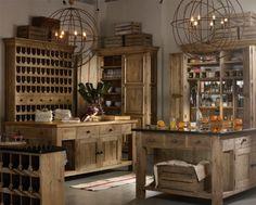 Interieurideeën | Voor een mannelijke keuken lopen de smaken uiteen, maar ga altijd uit van de basis: strak, eenvoudig en voorzien van stoere details, zoals een grote wijnkast van onbehandeld hout, een bar met stalen barkrukken. Door Callista