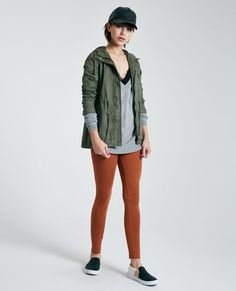 "<p>These incredibly comfy long-rise ankle leggings feature a knit fabric and a stretchy waistband.</p>  <p>Model wears a size small.</p>  <ul> <li>High-Rise</li> <li>Pull-on Construction</li> <li>29"" Inseam</li> <li>8"" Leg Opening</li> <li>Cotton / Spandex</li> <li>Machine Wash</li> <li>Imported</li> </ul>"