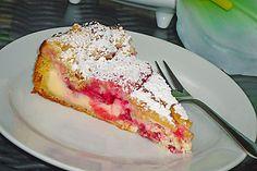 Rhabarberkuchen mit Quarkcreme und Streuseln 7