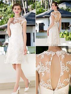 Aquí encontrarás varios vestidos sencillos hasta con encajes que te permitirá ser el centro de atención en la boda. Solo ingresa a: http://modelosdevestidosdenoche.com/vestidos-de-novia-para-civil/