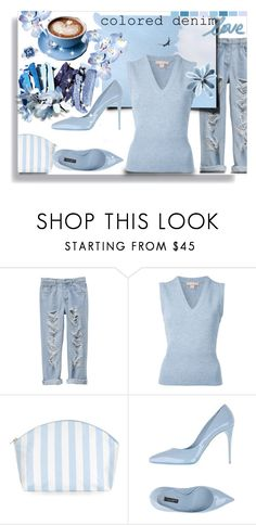 """Colored denim: weekend look"" by ane-56 ❤ liked on Polyvore featuring Michael Kors, Catherine & Jean and Dolce&Gabbana"