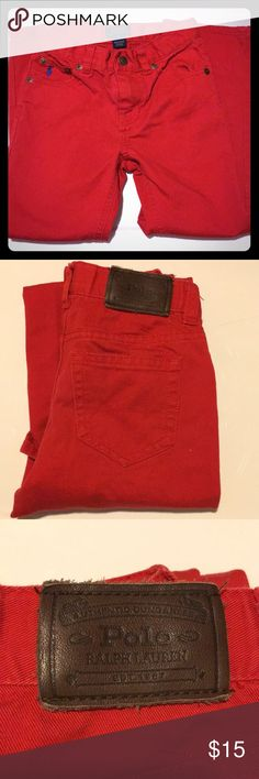 Ralph Lauren red jeans Red Ralph Lauren jeans  New without the tags! Never worn!  Size 5 boys  Perfect condition Ralph Lauren Bottoms Jeans