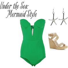 mermaidd, created by haleyymariee on Polyvore