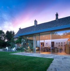 Yiangou Architects is a Traditional and Contemporary Architecture practice based in Cirencester with projects in the UK Glass Roof Extension, Building Extension, House Extension Design, Extension Ideas, House Outer Design, House Design, Kitchen Orangery, English Cottage Interiors, Cottage Renovation