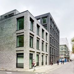 Photograph by Christopher Rudquist Corner House by DSDHA residential mixed-use brick architecture London, UK  ~ Great pin! For Oahu architectural design visit http://ownerbuiltdesign.com