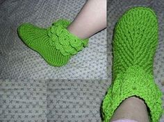 Ravelry: Lady Crochet Slippers with Crocodile Cuff pattern by Cass Dodge http://www.ravelry.com/patterns/library/lady-crochet-slippers-with-crocodile-cuff