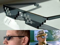 Buy Deal With It Thug Life Glasses Meme MLG Shades 8 Bit pixelated Unisex Sunglasses at Wish - Shopping Made Fun Deal With It Sunglasses, Mens Sunglasses, Retro Sunglasses, Sol Meme, Glasses Meme, Best White Elephant Gifts, Gold Tattoo, Fade Out, Take My Money