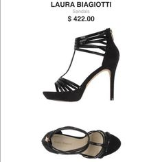 Laura Biagiotti sparkly heels NWOT!! NWOT; never worn Details:synthetic fibre, sueded effect, contrasting applications, solid color, zip closure, round toeline, sole in eco-leather, stiletto heel, covered heel Laura Biagiotti Shoes Heels